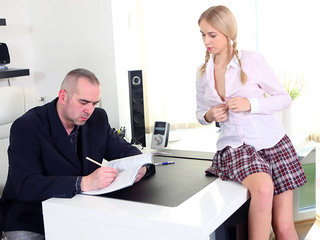 Horny student seduces her teacher with..